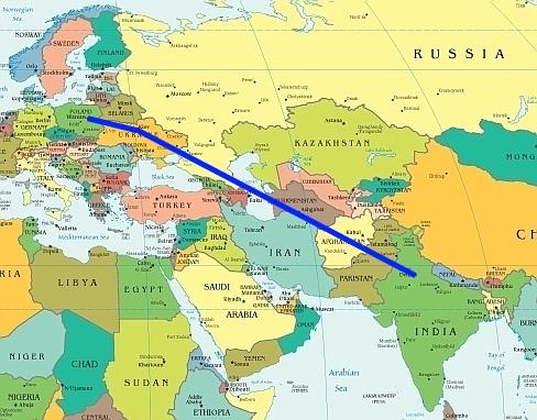 Plan podróży doIndii (lot zPolski doIndii)