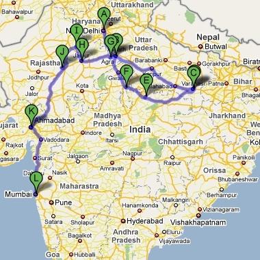 Plan podróży do Indii Północnych