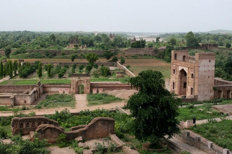 Ogrody pałacu Jahangir Mahal wOrchha
