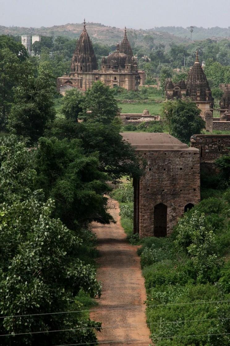 Widok zJahangir Mahal wOrchha