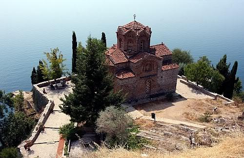 Cerkiew św. Jana Teologa w Kaneo, Ochryda, Macedonia (FYROM)