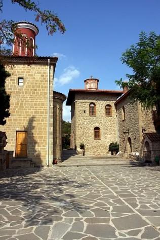 Wewnątrz Monastyru Świętego Stefana, Meteora