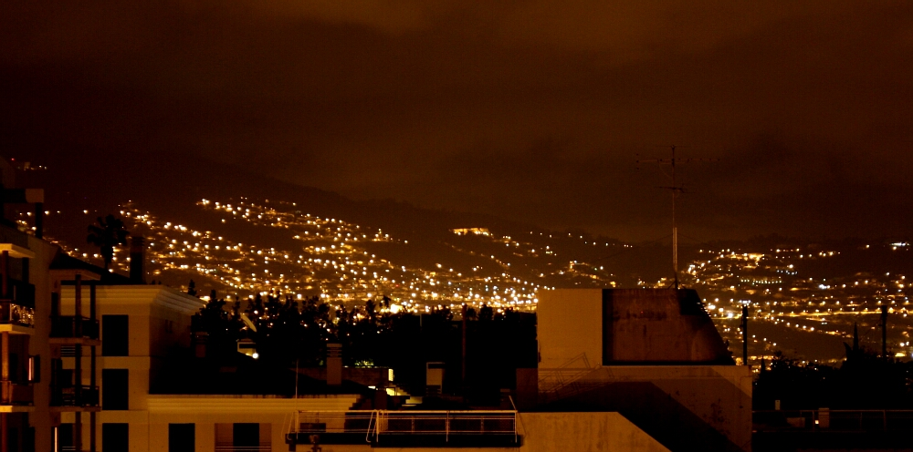 Madeira Funchal by night