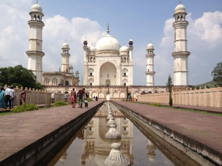 """Ciekawe miejsca wIndiach południowych: Bibi Qa Maqbara """"Tadź Mahal dla Ubogich"""", Aurangabad, Maharasztra"""