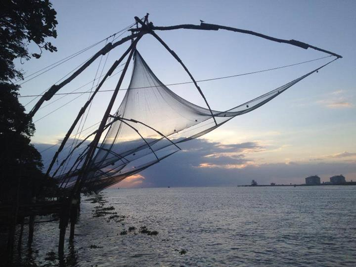 Chinese fishnets in Fort Kochin (Kochi), Kerala