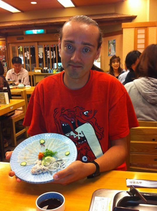 Sashimi z Fugu, Japonia (2012)