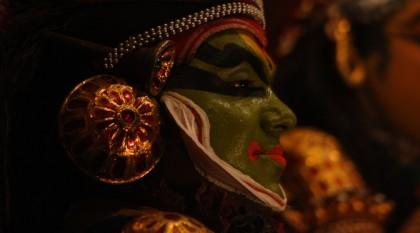 Teatr Kathakali wKerali (Fort Kochin, Kerala, Indie Południowe)