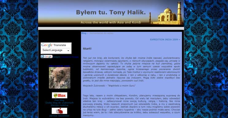 Byłem tu. Tony Halik. naAcrosstheworld (Dlaczego Byłem tu. Tony Halik.?)
