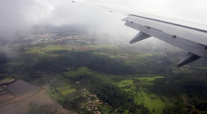 Lądujemy na lotnisku Dabolim, Goa, Indie