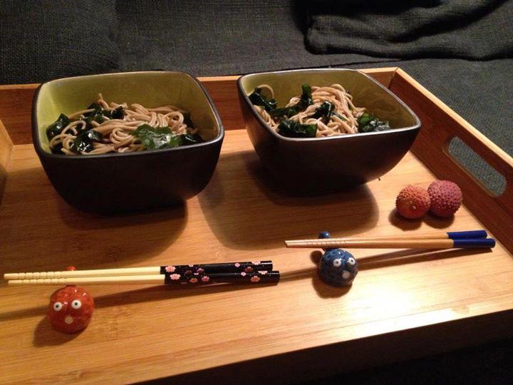 Wakame soba - makaron gryczany soba z wodorostami wakame