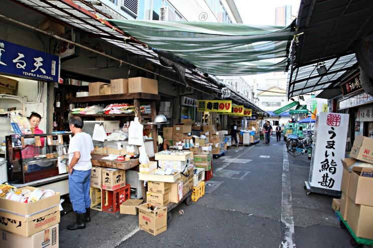 Targ rybny Tsukiji wTokio (Tsukiji-shijō - 築地市場)