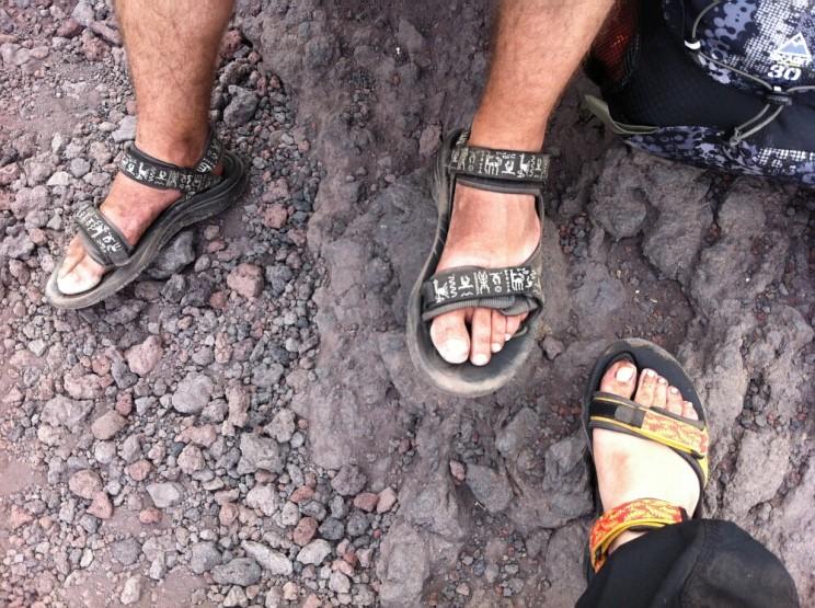 wspinaczka nagórę Fuji - buty dotrekkingu