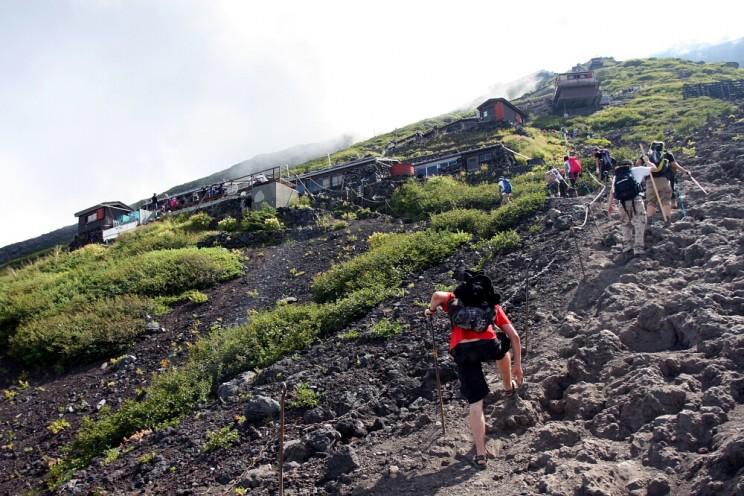 Góra Fuji - wspinaczka naszczyt najwyższego wulkanu Japonii