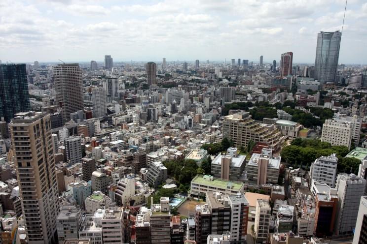 Widok zTokyo Tower wRoppongi, Tokio