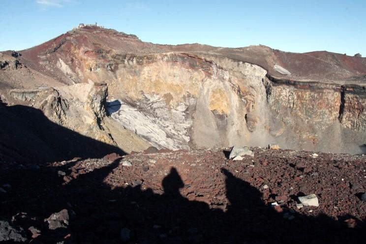 Wspinaczka nagórę Fuji - krater