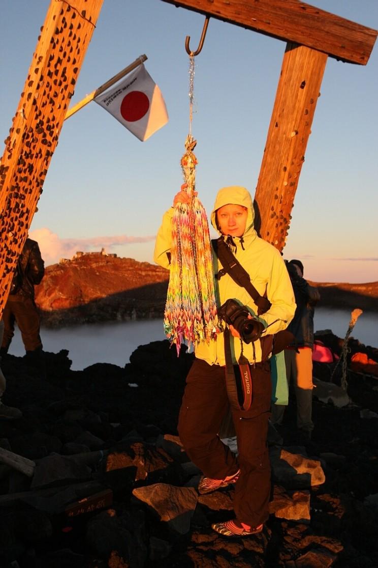 Wspinaczka nagórę Fuji - brama torii