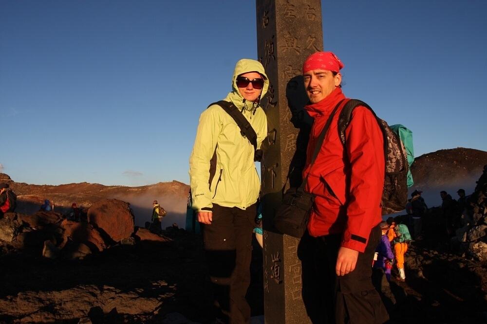Góra Fuji: na szczycie wulkanu Fuji, Japonia