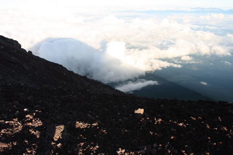 Wspinaczka nagórę Fuji - cień Fuji