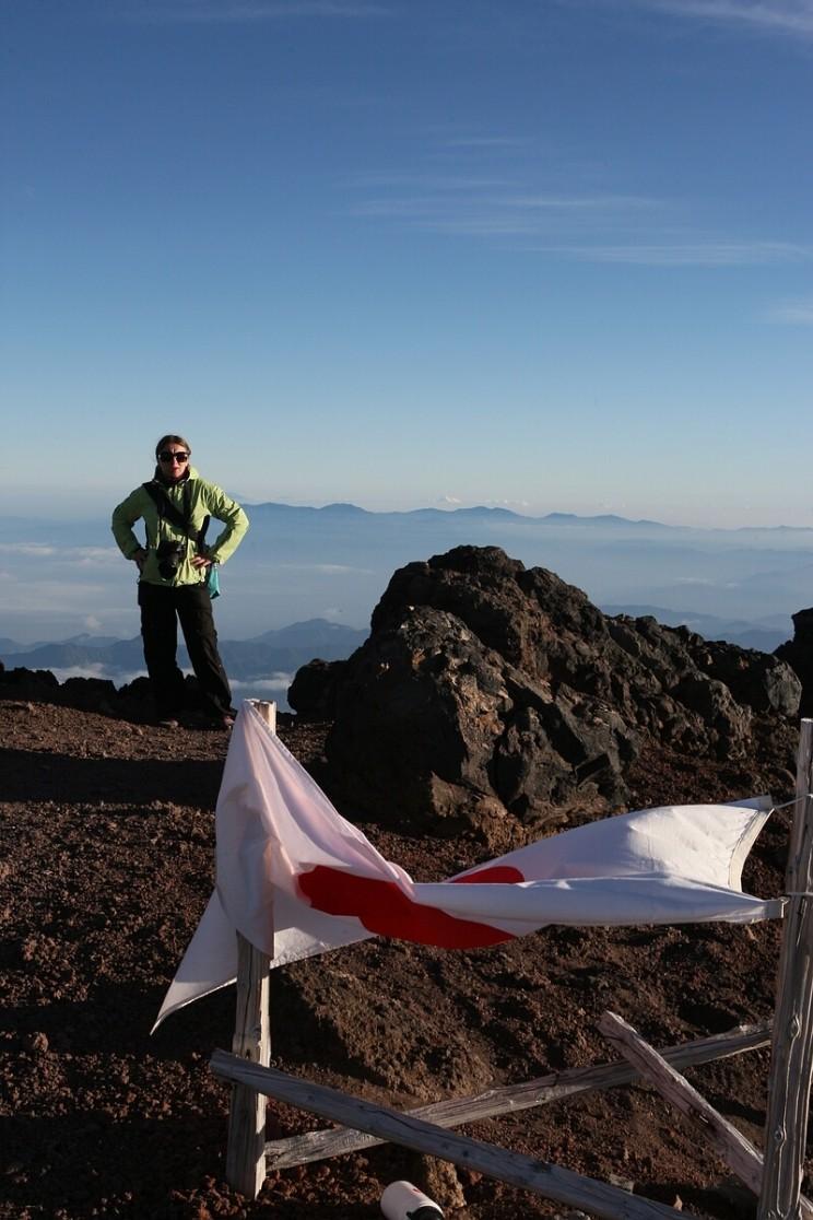 Na szczycie góry Fuji (sierpień 2012)