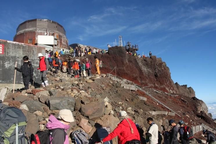 Wspinaczka nagórę Fuji - stacja meteorologiczna