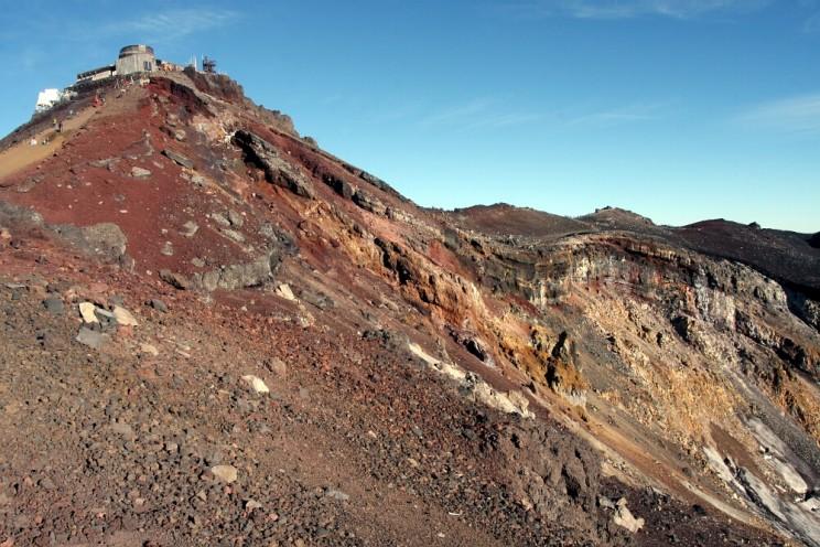 Wspinaczka nagórę Fuji - stacja meteorologiczna iszczyt