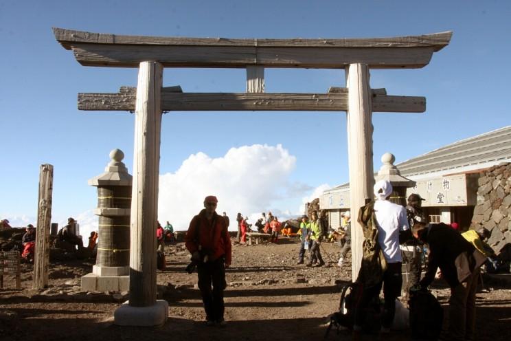 Wspinaczka nagórę Fuji - świątynia naszczycie