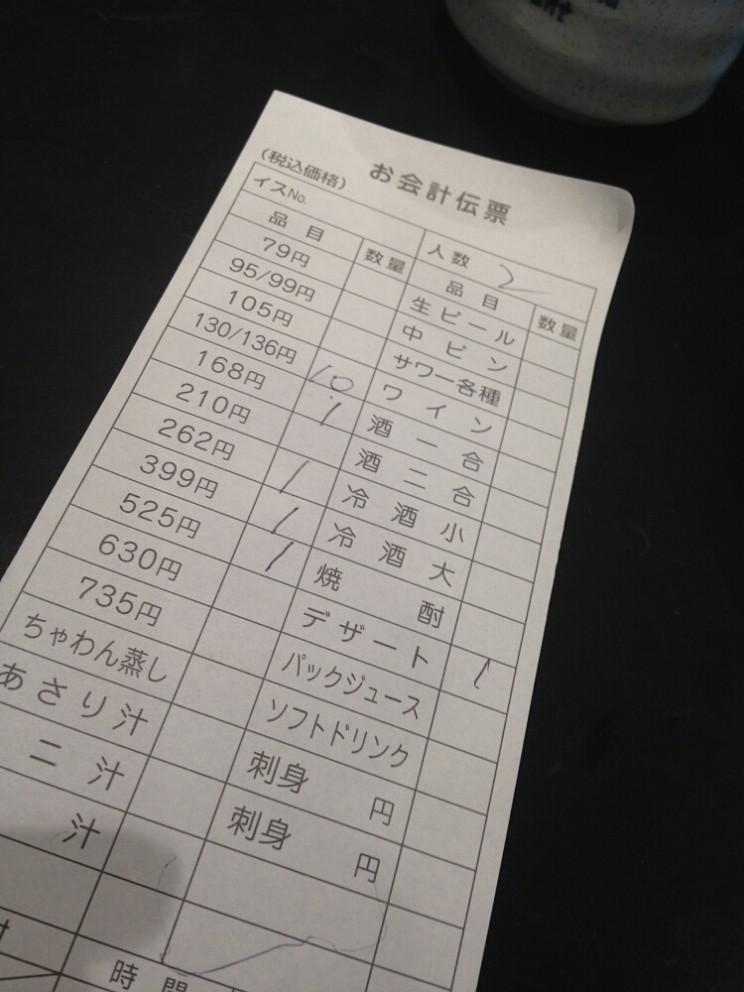 Sushi rachunek