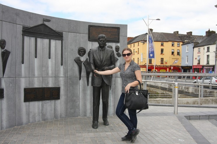 Shaking hands with J.F. Kennedy, New Ross Port