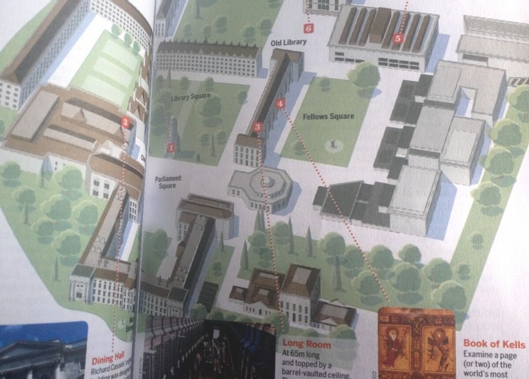 Plan kampusu Trinity College