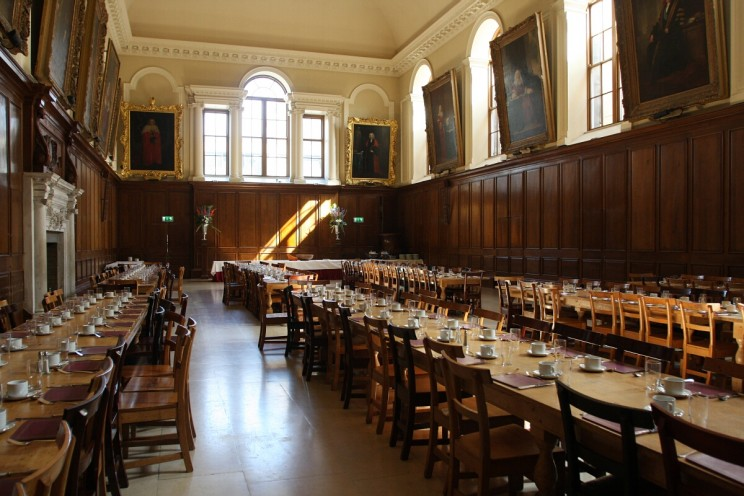 The Dining Hall w Trinity College, Dublin