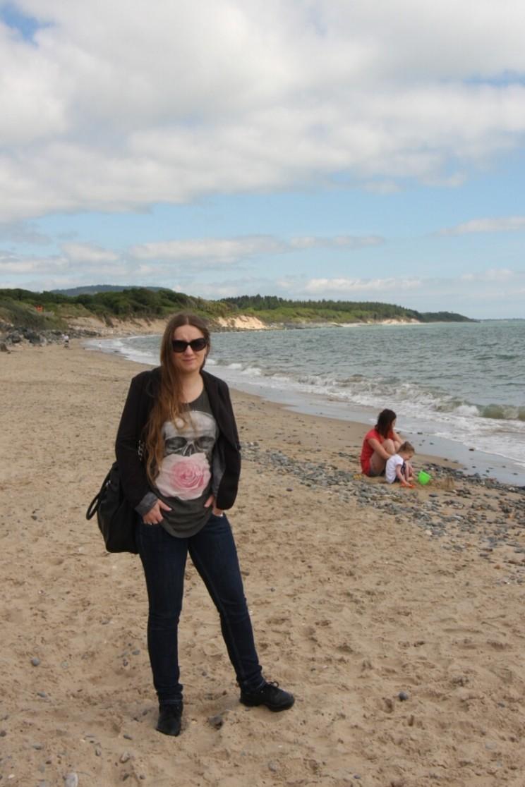 Na plaży wCourtown, hrabstwo Wexford, Irlandia