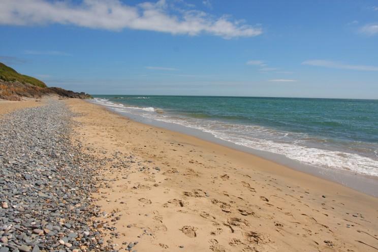 Dzika plaża nieopodal Courtown, hrabstwo Wexford, Irlandia