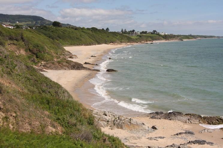 Plaża nieopodal Courtown, hrabstwo Wexford, Irlandia