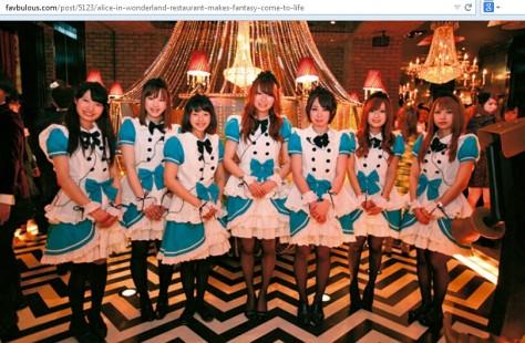 Alice in Wonderland Caffe Tokyo