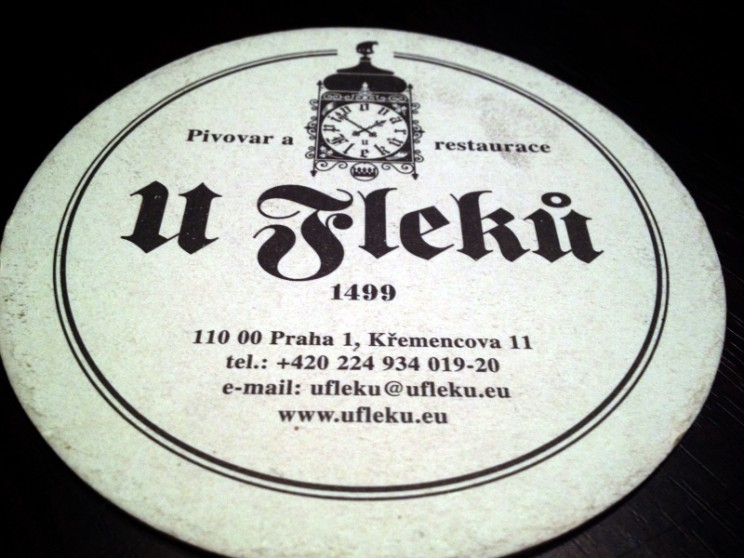 Najlepsze puby irestauracje wPradze: Coaster wrestauracji UFleků