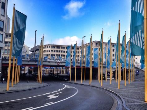 Bruksela: spacer postarym mieście Place de la Justice, czyli Plac Sprawiedliwości