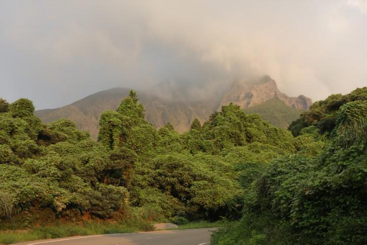 Aktywny wulkan Sakurajima, prefektura Kagoshima, Japonia