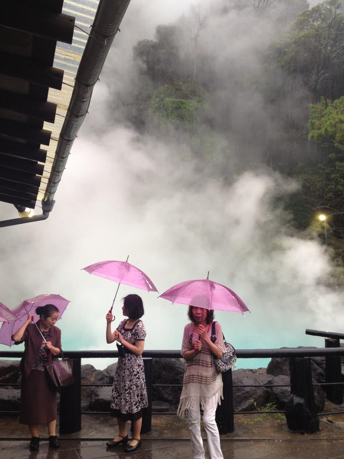 Gorące źródła wBeppu, prefektura Ōita (wrzesień 2012)