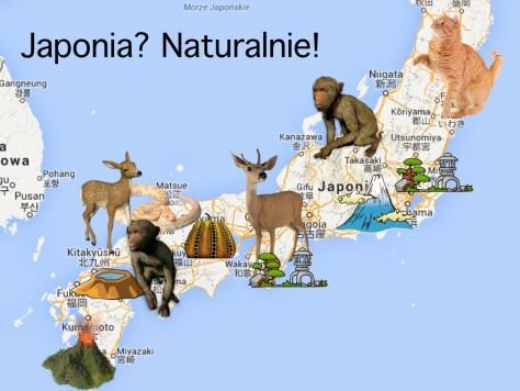 Japonia mapka zwierzaki
