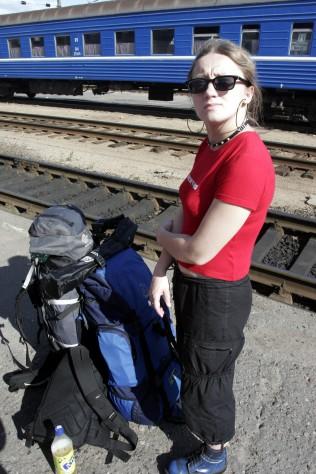 Czekam nanasz pociąg doMoskwy nadworcu kolejowym wBrześciu