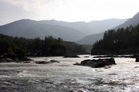 Rzeka Katuń, Czemal, Ałtaj, Syberia, Rosja