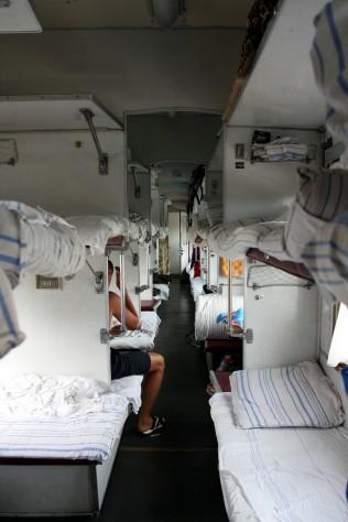 W pociągu doNowosybirska, Ałtaj, Syberia, Rosja (Podróż Koleją Transsyberyjską,Transsibem nadBajkał)