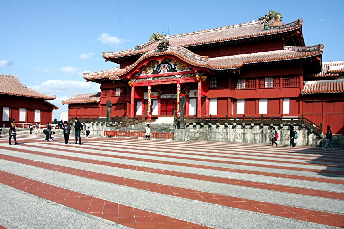 Zamek Shurijo (Shuri-jo) wNaha, Okinawa, Japonia