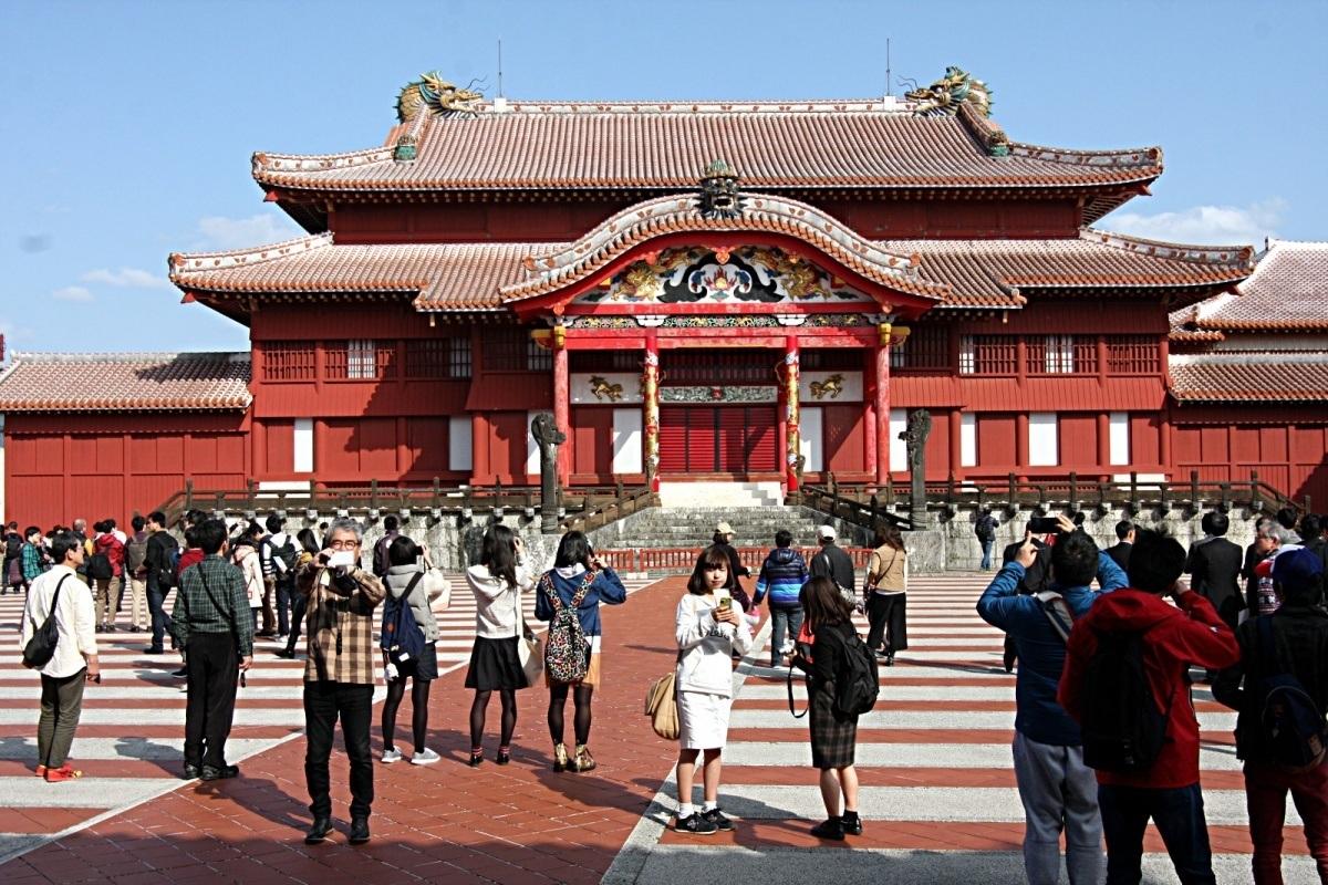 Ciekawe miejsca wJaponii: zamek Shuri (Shuri-jō), dawna stolica Królestwa Ryūkyū, Naha, Okinawa