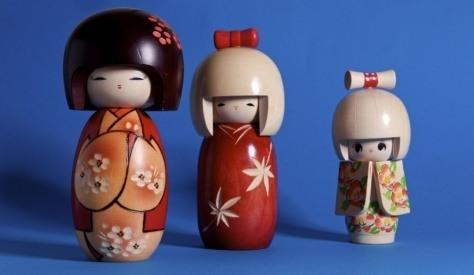 Japońskie laleczki kokeshi - kokeshi dolls