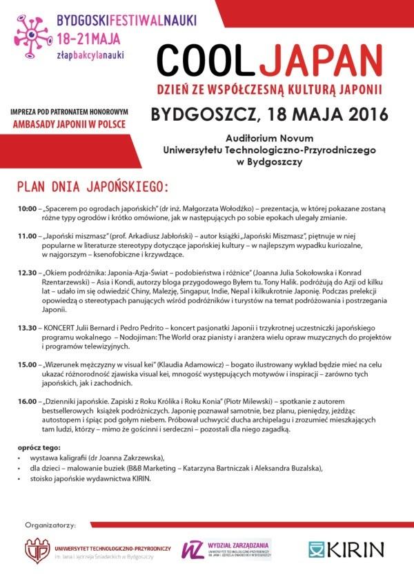 Cool Japan: Dzień zewspółczesną kulturą Japonii - Program