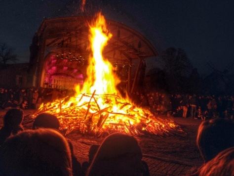 Noc Walpurgii wSztokholmie/ Valborg 2016 bonfire in Skansen Stockholm, Sweden