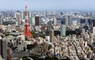 Widok naRoppongi iTokyo Tower ztokijskiego rarusza