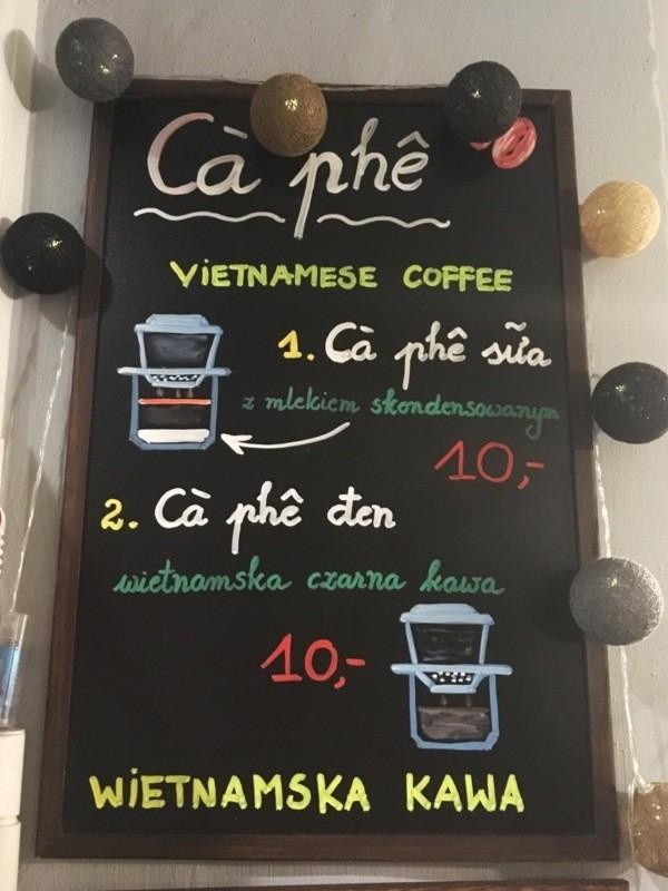 Viet Food Street Bistro: kawa powietnamsku - cà phê