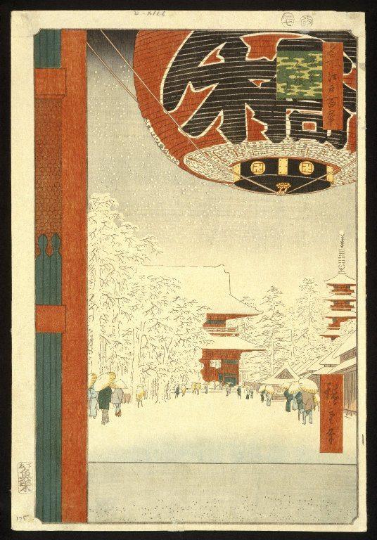 Utagawa Hiroshige: Asakusa Kinryuzan - Sto Słynnych Widoków Edo